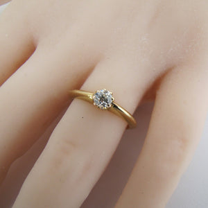 Antique 18ct Gold Diamond Solitaire Engagement Ring. - MercyMadge