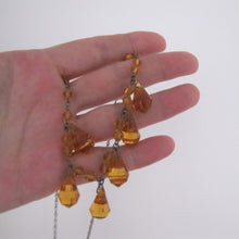 Load image into Gallery viewer, Antique Art Deco Citrine Necklace, Czechoslovakia - MercyMadge