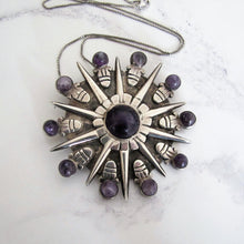 Load image into Gallery viewer, William Spratling Silver & Amethyst Pendant - MercyMadge