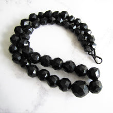 Load image into Gallery viewer, Victorian Whitby Jet Bead  Necklace. - MercyMadge