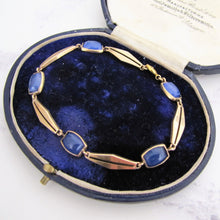 Charger l'image dans la galerie, Antique Blue Moonstone Bracelet, 9ct Gold - MercyMadge