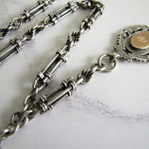 Victorian Scottish Silver Pocket Watch Chain, Highland Fob. - Mercy Madge