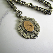 Load image into Gallery viewer, Victorian Scottish Silver Pocket Watch Chain, Highland Fob. - MercyMadge