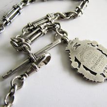 Load image into Gallery viewer, Victorian Scottish Silver Pocket Watch Chain, Highland Fob. - Mercy Madge
