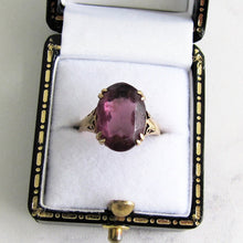 Load image into Gallery viewer, Edwardian 9ct Gold Paste Amethyst Ring. - MercyMadge