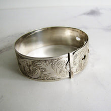 Load image into Gallery viewer, Vintage Charles Horner Engraved Silver Bracelet, Chester 1946. - Mercy Madge