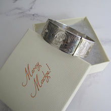 Load image into Gallery viewer, Vintage Charles Horner Engraved Silver Bracelet, Chester 1946. - MercyMadge