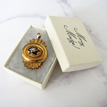 Load image into Gallery viewer, Victorian 15ct Gold Target Necklace Pendant, Locket Back - MercyMadge
