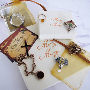 Vintage 1940s Eisenberg Brooch & Earring Set - MercyMadge