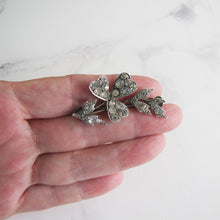 Load image into Gallery viewer, Antique Paste Diamond Silver Brooch, Cupid's Arrow - Mercy Madge