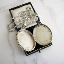 Load image into Gallery viewer, Victorian Aesthetic Engraved Silver Locket Necklace - MercyMadge