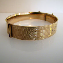 Load image into Gallery viewer, Antique 9ct Rolled Gold Engraved Bangle Bracelet. - MercyMadge