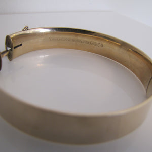 Antique 9ct Rolled Gold Engraved Bangle Bracelet. - MercyMadge