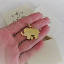 Load image into Gallery viewer, 18ct Tricolor Gold Mom & Baby Elephant Pendant - MercyMadge