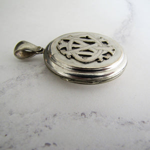 Sterling Silver 'In Memory Of' Antique Mourning Locket - Mercy Madge
