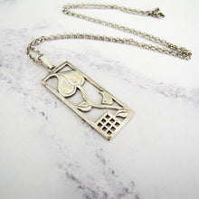 Load image into Gallery viewer, Charles Rennie Mackintosh Silver Tulip Pendant Necklace, Edinburgh - MercyMadge