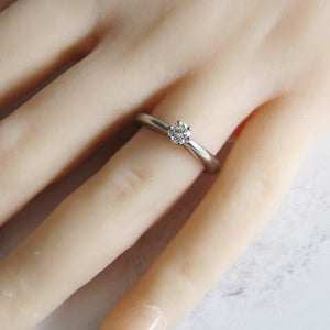 18ct Gold Diamond Solitaire Ring - MercyMadge