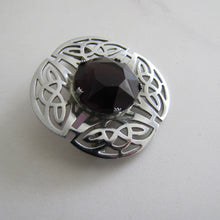 Load image into Gallery viewer, Vintage Celtic Knot Amethyst Brooch, Mizpah By Miracle. - MercyMadge