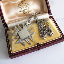 Load image into Gallery viewer, Vintage Engraved Silver Maltese Cross Fob Pendant On Chain. - Mercy Madge