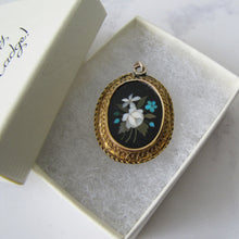 Load image into Gallery viewer, Victorian 15ct Gold Inlaid Pietra Dura Locket Pendant. - MercyMadge