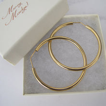Load image into Gallery viewer, Italian 18ct Yellow Gold Large Hoop Earrings - MercyMadge