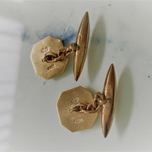 Load image into Gallery viewer, Antique 9ct Gold Cufflinks. English Edwardian/Art Deco Cufflinks. - MercyMadge