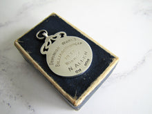 Charger l'image dans la galerie, 1930s Engraved Silver Pocket Watch Fob, Fattorini Box. - MercyMadge