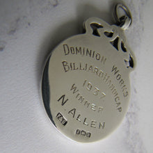 Laden Sie das Bild in den Galerie-Viewer, 1930s Engraved Silver Pocket Watch Fob, Fattorini Box. - MercyMadge