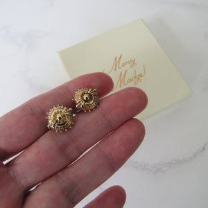 Victorian 9ct Gold Target Earrings. - MercyMadge