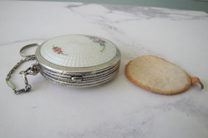 Art Deco Sterling Silver Compact, R&G Co. - MercyMadge