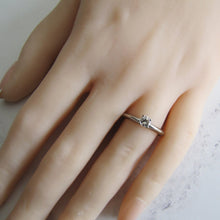 Load image into Gallery viewer, Vintage 1/4 Carat Diamond Solitaire Ring, 14ct White Gold - MercyMadge