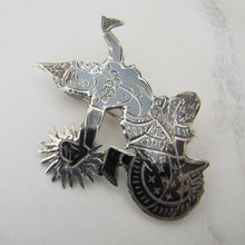 Load image into Gallery viewer, 1930s Niello Silver Brooch, Made In Siam. - MercyMadge