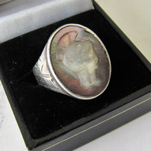 Load image into Gallery viewer, Mens Victorian 935 Silver Intaglio Ring. - Mercy Madge