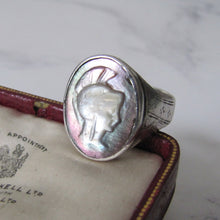 Load image into Gallery viewer, Mens Victorian 935 Silver Intaglio Ring. - MercyMadge