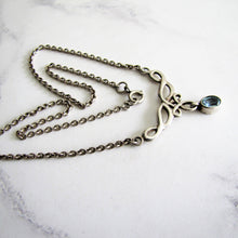Load image into Gallery viewer, Sterling Silver & Topaz Infinity Pendant Necklace - MercyMadge