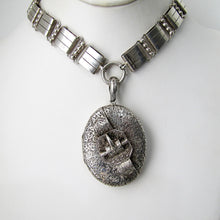 Load image into Gallery viewer, Victorian Aesthetic Engraved Silver Locket. - MercyMadge