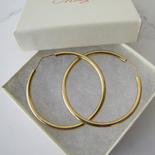 Load image into Gallery viewer, Italian 18ct Yellow Gold Large Hoop Earrings - Mercy Madge