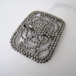 Antique Cut Steel French Buckle. - MercyMadge