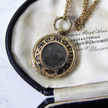 Load image into Gallery viewer, Georgian Gold Enamel Mourning Pendant Fob. - MercyMadge