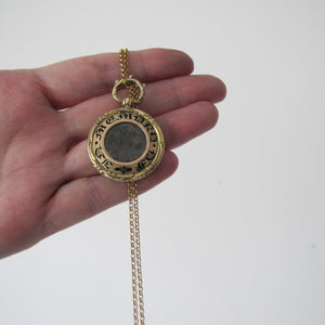 Georgian Gold Enamel Mourning Pendant Fob. - MercyMadge