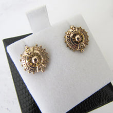 Load image into Gallery viewer, Victorian 9ct Gold Target Earrings. - MercyMadge