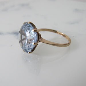1960's 10 Carat Topaz Solitaire Dress Ring, 9ct Gold. - MercyMadge
