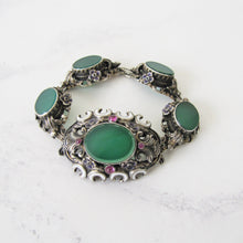 Load image into Gallery viewer, Antique Austro Hungarian Suffragette Bracelet
