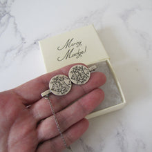 Load image into Gallery viewer, Victorian Silver AEI Coin Brooch - MercyMadge