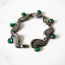 Load image into Gallery viewer, 1950's Modernist Silver Bracelet, Gerardo Lopez, Taxco, Mexico. - MercyMadge