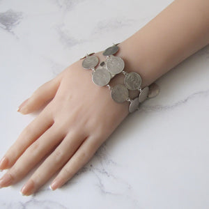 Victorian Maundy Money Silver Coin Bracelet - MercyMadge