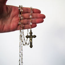 Load image into Gallery viewer, Antique Sterling Silver Czech Crystal Rosary - MercyMadge