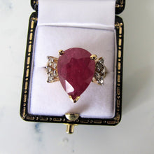 Load image into Gallery viewer, 14ct Gold Ruby & Diamond Ring - MercyMadge