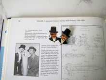 Load image into Gallery viewer, 1930s Novelty Brooch, Rare Coro Fur Clip, Charlie McCarthy Mechanical Pin. - MercyMadge