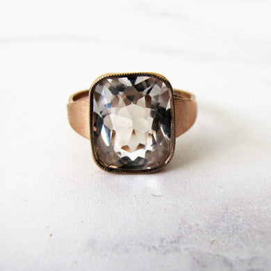 Gents 1940's Rose Gold & Spinel Russian Ring. - MercyMadge